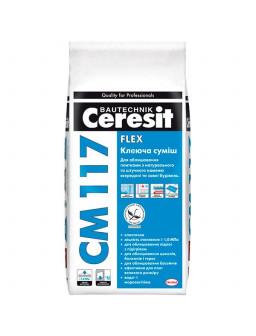 СМ 117 клей для плитки Церезит 5кг. Фасовка