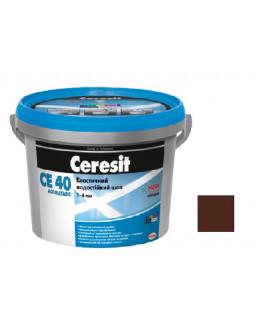 Затирка СЕ 40 aquastatic 58 темно-коричневая 2кг.