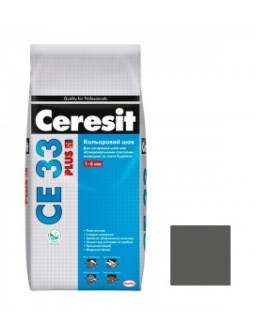 Затирка СЕ-33 PLUS 115 серый цемент 2кг.
