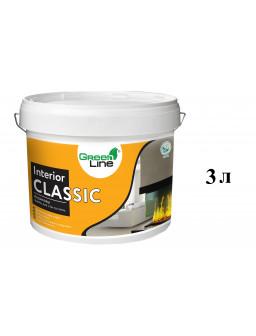 акриловая краска для стен и потолков Интериор Классик 3л