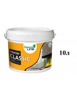 акриловая краска для стен и потолков Интериор Классик 10л