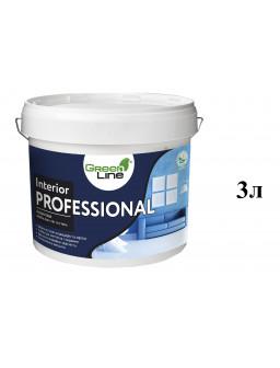 акриловая краска стойкая к мытью Профешнл 3л