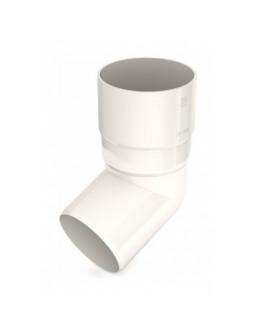 Колено водосточной трубы 100 * 60 белое