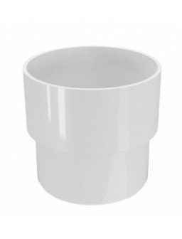 Соединитель водосточной трубы белый