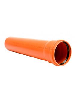 труба 110*1000мм оранжевая