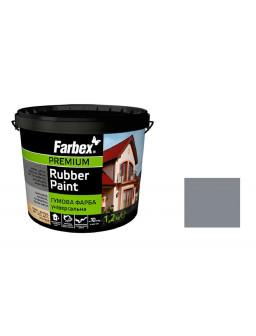 Краска резиновая серая 1,2кг.
