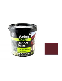 Краска резиновая вишневая 3,5кг.