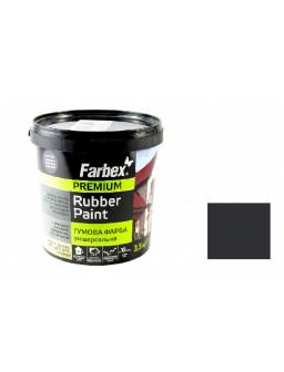 Краска резиновая чорная 3,5кг.