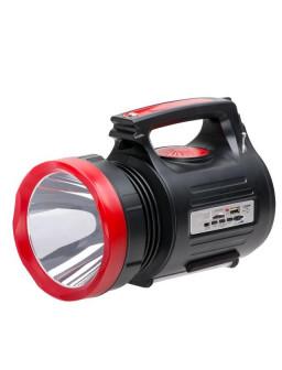 Фонарь аккумуляторный 1LED 5W + 22 SMD, выносная солнечная панель,выносные 3 led лампы (кабель3м), радио, кабель для зарядки телефона-планшета, слот д LB-0104