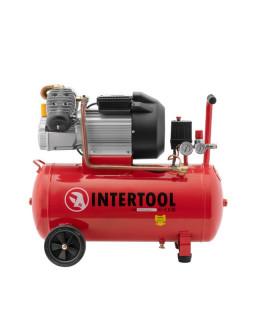 Компрессор 50 л, 3 кВт, 220 В, 8 атм, 420 л/мин, 2 цилиндра. PT-0007